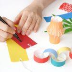 【折り紙で簡単に!】子どもと作った七夕飾りを保育園に飾ってきました!