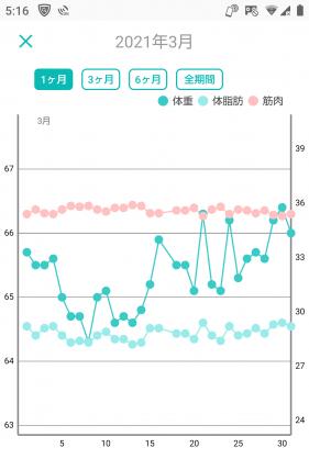 -10キロの体重グラフ(11か月目)